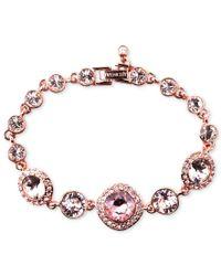 Givenchy   Multicolor Bracelet, Rose Gold-tone Swarovski Vintage Stone Bracelet   Lyst