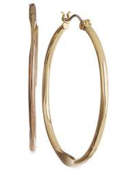 Nine West   Metallic Gold-tone Medium Hoop Earrings   Lyst