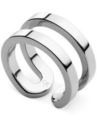 Calvin Klein   Metallic Silver-tone Open Ring   Lyst