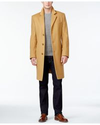 Michael Kors | Natural Michael Madison Cashmere-blend Overcoat for Men | Lyst
