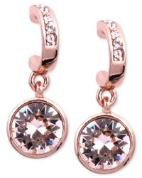 Givenchy | Multicolor Earrings, Rose Gold-tone Swarovski Silk Crystal Drop Earrings | Lyst