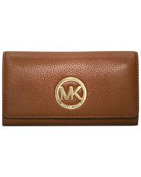 Michael Kors | Metallic Michael Fulton Carryall Wallet | Lyst
