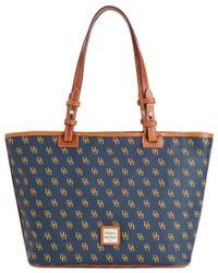 Dooney & Bourke | Blue Gretta Signature Small Leisure Shopper Bag | Lyst