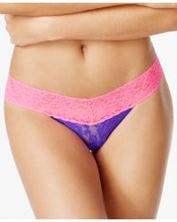 Hanky Panky | Pink Colorplay Lace Thong 36106 | Lyst