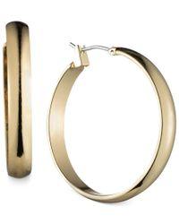 Anne Klein   Metallic Gold-tone Wide Hoop Earrings   Lyst