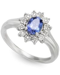 Macy's - Multicolor Tanzanite (1/2 Ct. T.w.) And Diamond Accent Ring In 10k White Gold - Lyst