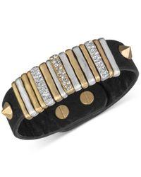 The Sak | Multicolor Gold-tone Black Leather Slider Accent And Stud Bracelet | Lyst