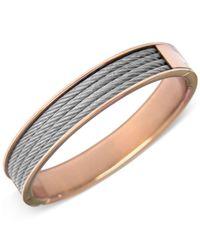 Charriol | Metallic Two-tone Cable Bangle Bracelet | Lyst