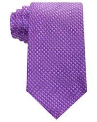 Michael Kors - Purple Men's Emergent Print Tie for Men - Lyst