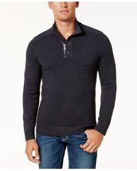 INC International Concepts - Blue Men's Quarter-zip Sweater for Men - Lyst