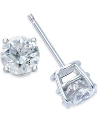 Macy's - Metallic Diamond Stud Earrings (1-1/2 Ct. T.w.) In 14k White Gold - Lyst