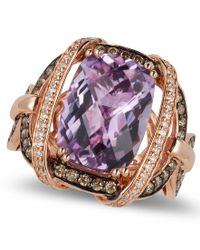 Le Vian - Pink Amethyst (5-2/4 Ct. T.w.) And Diamond (3/4 Ct. T.w.) Ring In 14k Rose Gold - Lyst