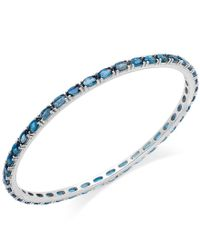 Macy's - Blue Topaz Bangle Bracelet In Sterling Silver (9 Ct. T.w.) - Lyst