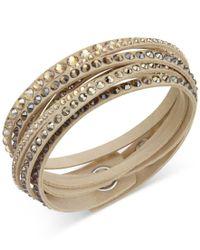 Swarovski | Natural Slake Deluxe Crystal Stud Wrap Bracelet | Lyst