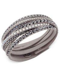 Swarovski   Gray Slake Deluxe Crystal Stud Wrap Bracelet   Lyst