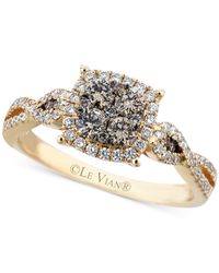 Le Vian - Brown Chocolate (3/8 Ct. T.w.) And White (1/3 Ct. T.w.) Diamond Braided Ring In 14k Gold - Lyst