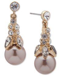 Givenchy - Metallic Imitation Pearl & Crystal Drop Earrings - Lyst