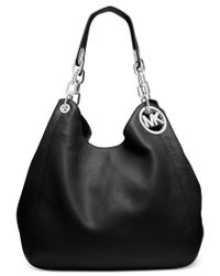 Michael Kors | Black Fulton Large Shoulder Tote | Lyst
