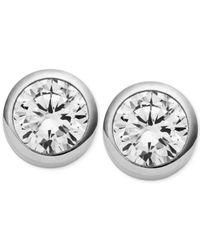 Michael Kors - Metallic Crystal Bezel Stud Earrings - Lyst