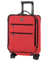 "Victorinox | Red Closeout! 50% Off Victorinox Lexicon 20"" Global Carry On Expandable Spinner Suitcase for Men 