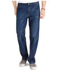 Izod - Blue Relaxed Fit Jeans for Men - Lyst