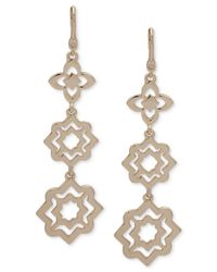 Ivanka Trump - Metallic Gold-tone Cut-out Drop Earrings - Lyst