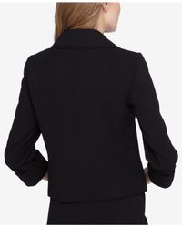 Tahari - Black Three-button Three-quarter-sleeve Jacket - Lyst