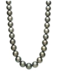 Macy's | Multicolor Tahitian Pearl Strand Necklace In 14k Gold (15mm) | Lyst
