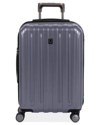 """Delsey   Gray Closeout! 60% Off Helium Titanium 21"""" Carry On Expandable Hardside Spinner Suitcase for Men   Lyst"""