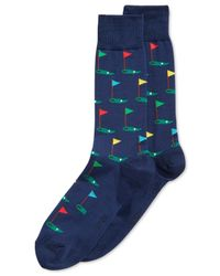 Hot Sox   Blue Golf Crew Socks for Men   Lyst