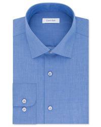 Calvin Klein - Multicolor Steel Men's Classic Fit Non-iron Performance Solid Dress Shirt for Men - Lyst