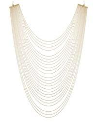 ABS By Allen Schwartz | Metallic Gold-tone Multirow Necklace | Lyst
