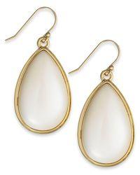 kate spade new york | Metallic Gold-tone Imitation Pearl Teardrop Earrings | Lyst