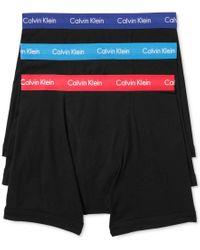 Calvin Klein | Black Men's Cotton Stretch Boxer Briefs 3-pack Nu2666 for Men | Lyst