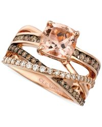 Le Vian | Pink Morganite (1-3/4 Ct. T.w.) And Diamond (3/4 Ct. T.w.) Ring In 14k Rose Gold | Lyst