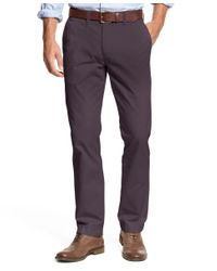 Tommy Hilfiger | Purple Men's Custom Fit Chino Pants for Men | Lyst