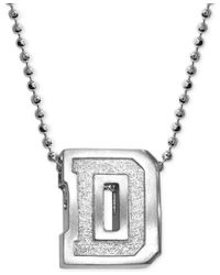 Alex Woo | Metallic Little Collegiate By Dartmouth Pendant Necklace In Sterling Silver | Lyst
