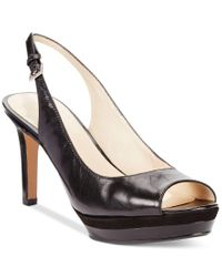 Nine West | Black Able Mid-heel Pumps | Lyst