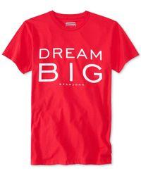 Sean John | Red Men's Dream Big T-shirt, Only At Macy's for Men | Lyst