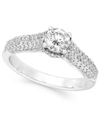 Effy Collection - Metallic Bridal Certified Diamond Engagement Ring In 14k White Gold (1 Ct. T.w.) - Lyst