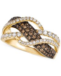 Le Vian | Metallic Chocolate And White Diamond Woven Ring In 14k Gold (1 Ct. T.w.) | Lyst