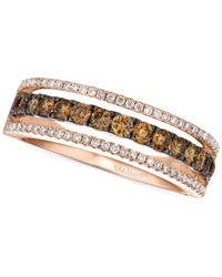 Le Vian | Metallic Chocolate And White Diamond Channel Band In 14k Rose Gold (5/8 Ct. T.w.) | Lyst