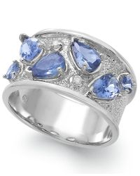 Macy's - Metallic Tanzanite (1-3/4 Ct. T.w.) And Diamond Accent Ring In Sterling Silver - Lyst