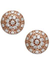 Wrapped in Love - Pink Diamond Disc Earrings In 14k Rose Gold (1/2 Ct. T.w.) - Lyst