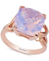 Le Vian | Purple Lavender Quartz (5-9/10 Ct. T.w.) And Diamond (1/10 Ct. T.w.) Ring In 14k Rose Gold | Lyst