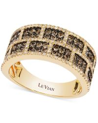 Le Vian | Natural White And Chocolate Diamond Rectangle Band In 14k Gold (1-1/4 Ct. T.w.) | Lyst