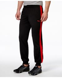PUMA - Red Men's Cuffed Tricot Sweatpants for Men - Lyst