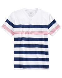 American Rag | Blue Men's Striped T-shirt, Only At Macy's for Men | Lyst