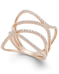 Macy's | Pink Diamond Wavy Ring In 14k Rose Gold (3/8 Ct. T.w.) | Lyst