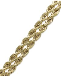 Macy's - Metallic Chain Double Rope Bracelet In 14k Gold - Lyst